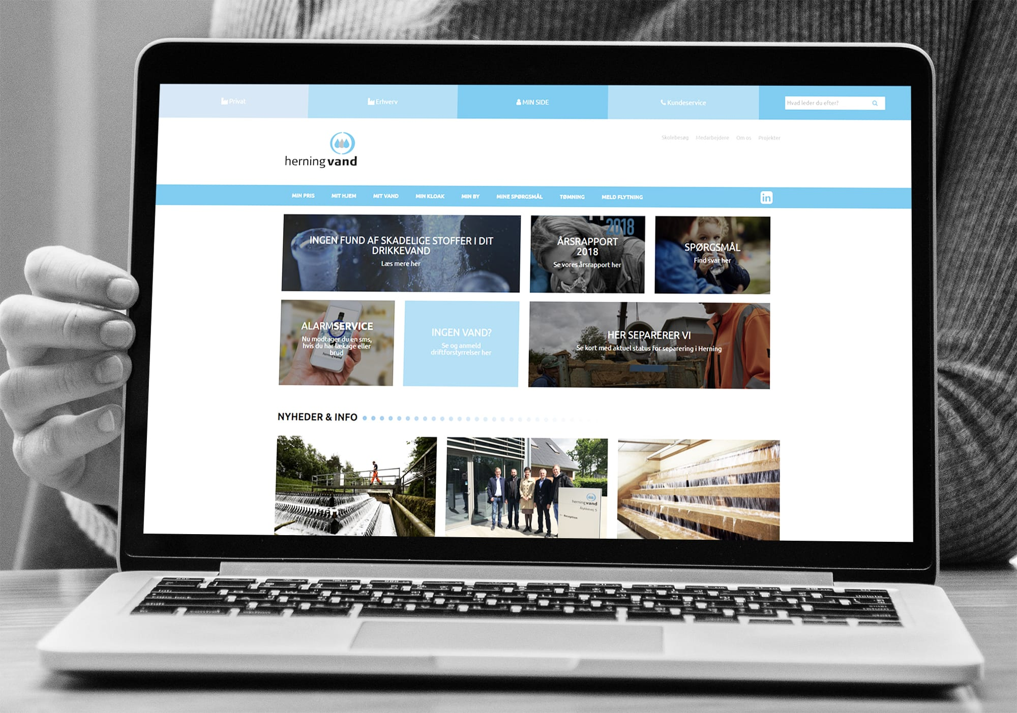 Herningvand Website